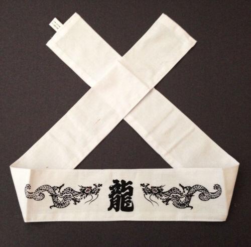 "Japanese Hachimaki Headband Martial Arts /""Ryu/"" Dragon Tenugui Made in Japan"