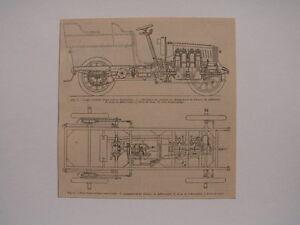 Planche ancienne 1900 automobile voiture dessin technique - Dessin de voiture ancienne ...