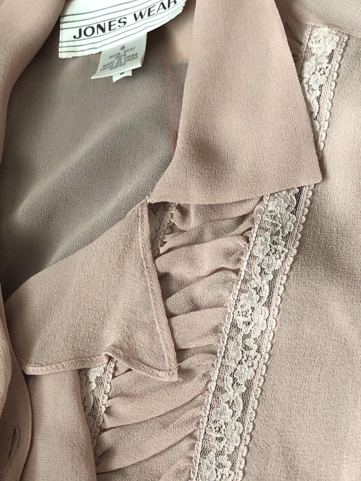 Vintage Stunning Jones Wear Silk Sheer Dusty Lila… - image 9