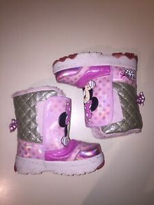 9M US Toddler Disney Minnie Mouse Toddler Winter Snow Boots