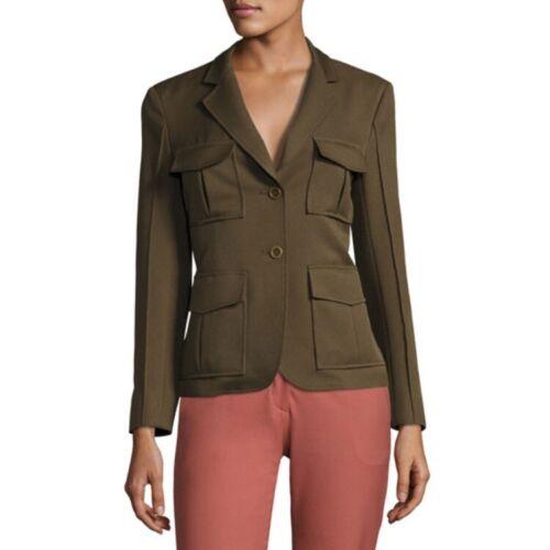 Theory Lackman Prospective Safari Jacket Green Siz