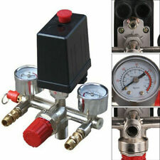 Air Compressor Pressure Control Switch Valve Manifold Regulator With Gauges Relief