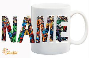 Marvel-Personalized-Logo-Mug-Your-Name-Spiderman-hulk-avengers-Xmen-GIFT
