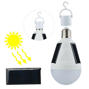 Led solar light bulb 7w e27 tent outdoor camping solar lamp image is loading led solar light bulb 7w e27 tent outdoor aloadofball Image collections