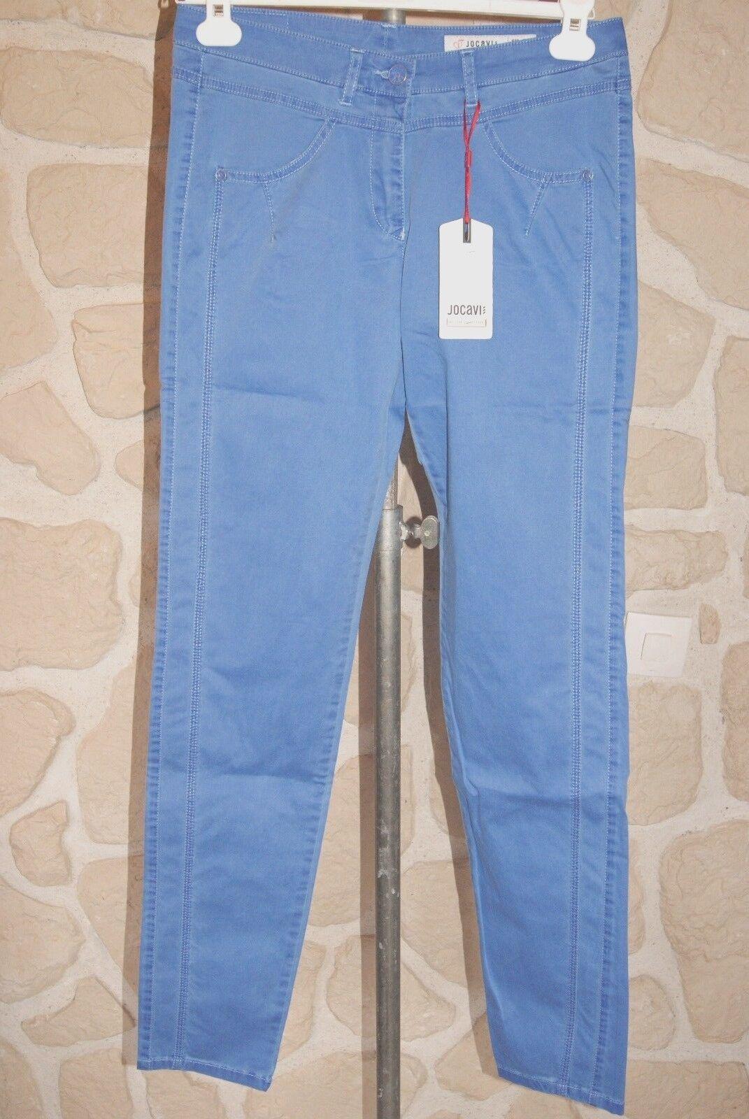 Pantalon bleu neuf taille 38 marque JOCAVI étiqueté à