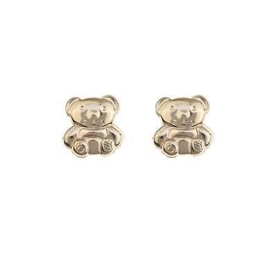 9ct Gold Teddy Bear Dangly drop earrings Made in UK Gift Boxed