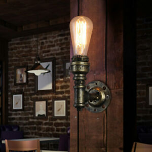 Pipe-Vintage-Wall-Light-Lamp-Industrial-Metal-Fixtures-Ceiling-Indoor-Lighting