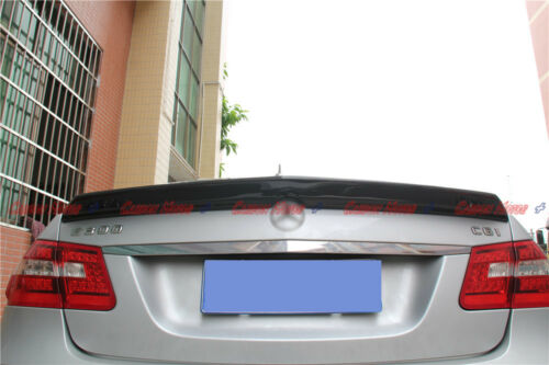 Carbon Fiber Rear Spoiler Boot Lid for 10-15 Mercedes W212 Sedan E200 E350 E300