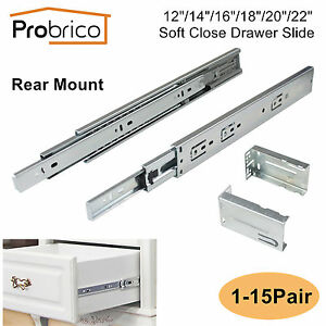 12 22in Soft Close Full Extension Rear Mount Drawer Slide
