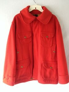 Woolrich Vintage Red Wool Jacket Coat Hunting Lined L 44 ...