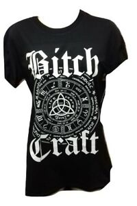 Gothic Symbol Bitch Craft T Shirt Vetements Alternatifs Femmes