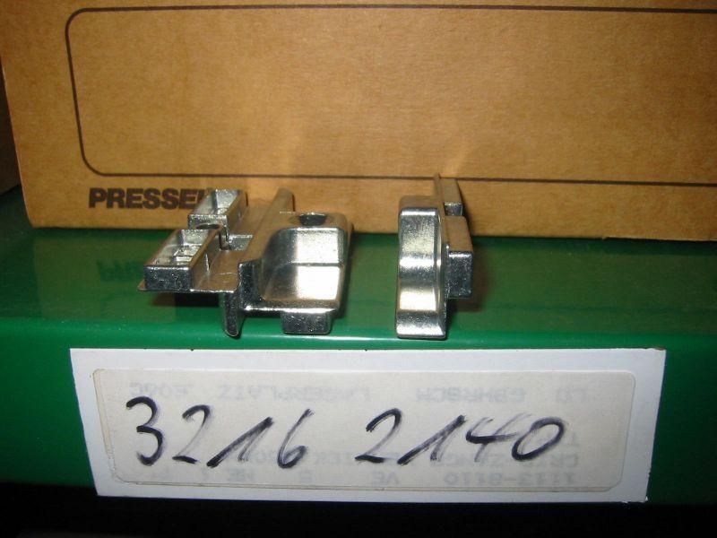 50x MACO Schliessblech silber 34902 für Holz Fenster und Türen mit Euronut