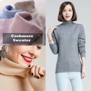 965b6fbc7fe6 Image is loading Women-Lady-Warm-Knitted-High-Neck-Turtleneck-Cashmere-