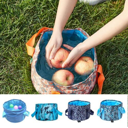 Portable 15L Folding Bucket Jerribag Wash Basin Foldable Camping Water Pot Pail