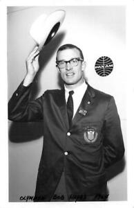 RPPC-Olympian-Bob-Hayes-1964-Pan-Am-Airways-Whelan-Vintage-Postcard