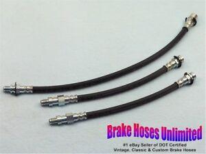 BRAKE-HOSE-SET-Chevrolet-Truck-C10-1-2-Ton-1970-Leaf-Springs-w-o-396-Drum