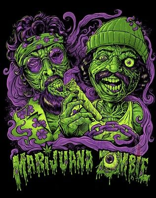 Drôle De Zombie Marijuana Cheech et Chong Film T-Shirt S M L XL 2XL 3XL 4XL 5XL
