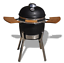 Huevo-De-Cocina-De-Ceramica-higoshi-Kamado-Barbacoa-Charcoal-Grill-smoker-soporte-del-cromo-de-Talla