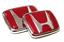 Red Honda Emblem JDM Style Type R Civic Acura Integra RSX Accord Badge Logo Set