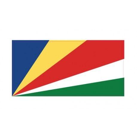 Autocollant Drapeau Seychelles sticker flag 12 cm