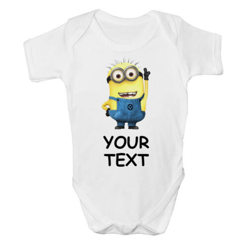 FUNNY DESPICABLE ME BABY VEST GIFT PERSONALISED COOL CUTE GROW BODYSUIT BOY GIRL