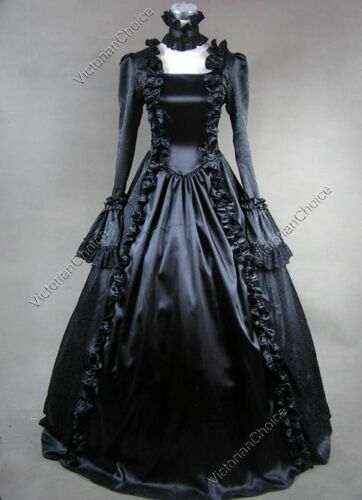 Masquerade Ball Clothing: Masks, Gowns, Tuxedos   Renaissance Victorian Black Masquerade Dress Gothic Theatrical Ball Gown 119 $139.00 AT vintagedancer.com