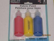 Fabric Paint 3 Pk - Arts & Crafts, Sewing, Make Clothes, Nontoxic, Textile Paint