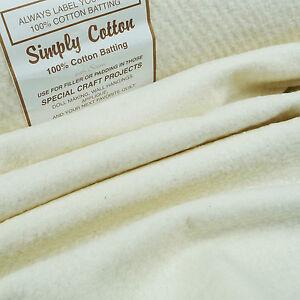 Semplicemente-cotone-100-ovatta-44-034-110-cm-imbottitura-Quilting-Patchwork-Tradizionale