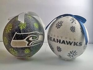 Seahawks Christmas Lights.Details About Seattle Seahawks Nfl Led Light Up Christmas Tree Bauble Ball Ornament