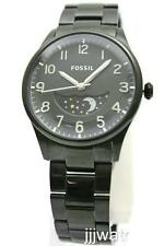 New Fossil The Agent Moonphase Steel Black Ion Plated Men Watch 39mm FS4849 $145