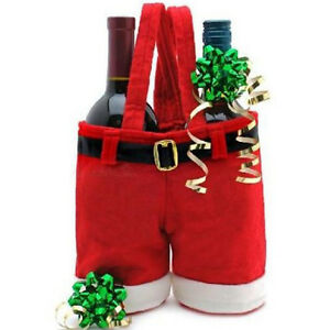 Christmas Santa Claus Pants Candy Gift Wine Bag Handbag Xmas Decor ...
