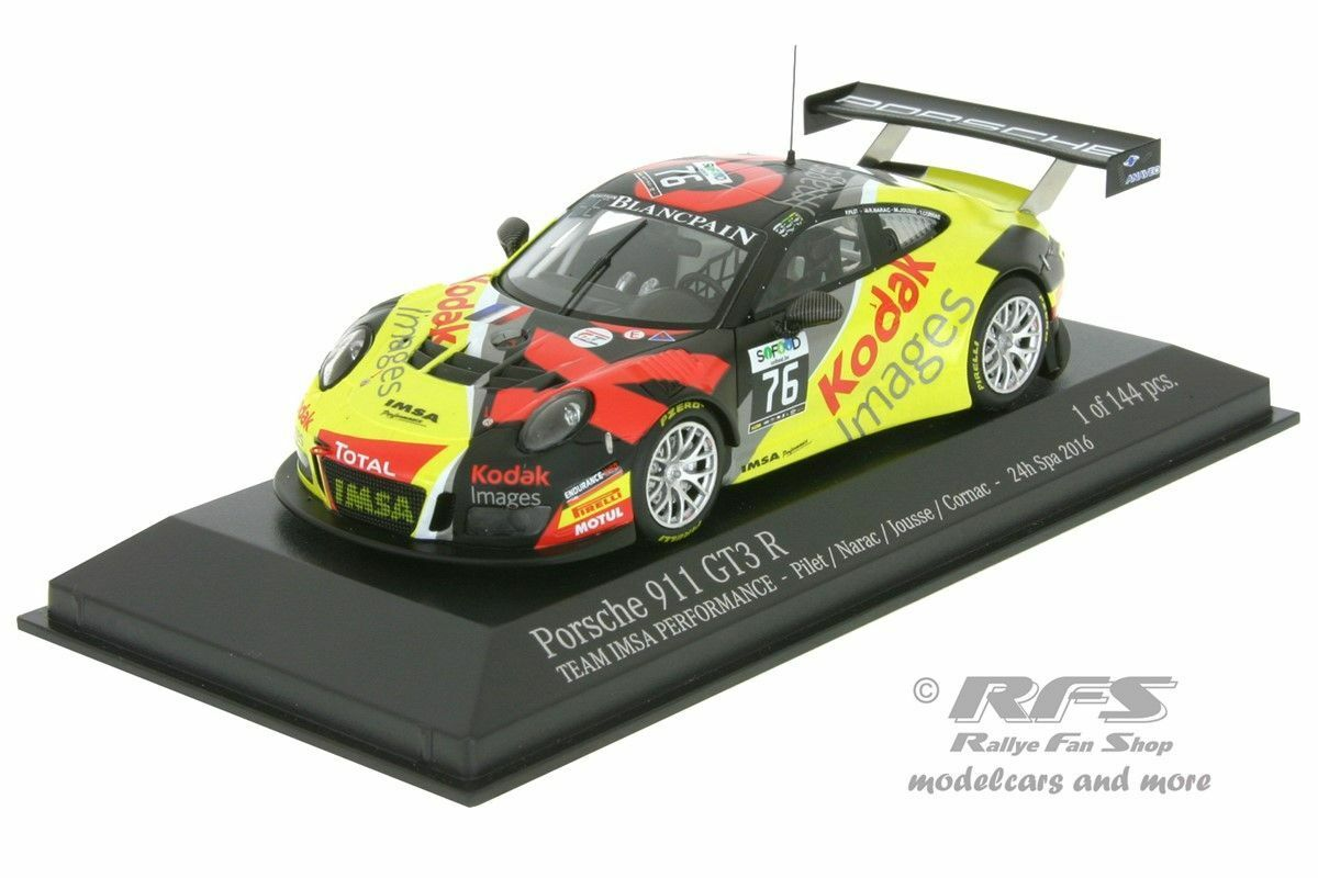 Porsche 911 gt3 R - 24 hours of spa 2016-Cornac - 1 43 Minichamps 437166076