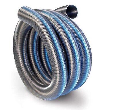 Edelstahl Flexibel Kamin Abzug Futter Einzel Haut Gas Rohr Ofen Rohr