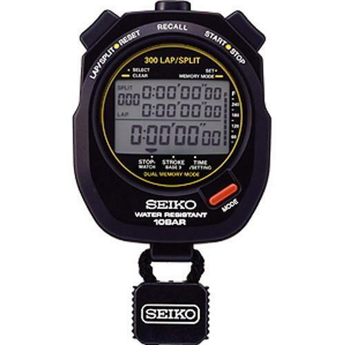 Seiko S141 Stopwatch Stopwatch Stopwatch / Sports Watch with 300 Lap Memory 3ee209