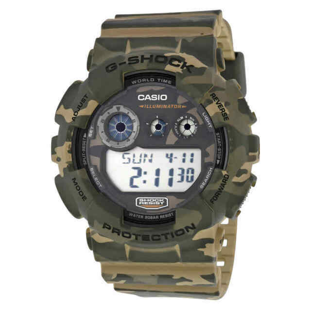 Casio G-Shock Mens Watch GD120CM-5  GD-120CM-5DR Digital Camouflage Brown