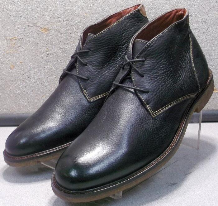 252021 MSBT50 Men's shoes Size 8.5 M Black Leather Ankle Boots Johnston & Murphy