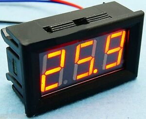 Golf Cart Boat Rv Battery Red Led Charge Meter Amp Chart 12