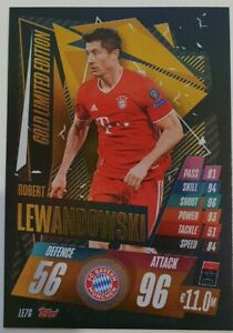 2020/21 Match Attax UEFA - Lewandowski Gold Limited Edition LE7G Bayern Munich
