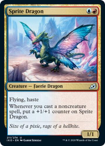 4x NM-Mint Lair of Behemoths magicmtg English Regular Sprite Dragon Ikoria