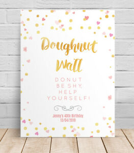 Doughnut-Wall-Birthday-Personalised-Table-Sign-Poster-40th-30th-Birthday-party