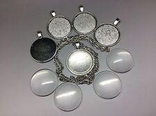 Pendant Necklace DIY Kit, Antique Silver, Make your own Vintage Design Jewellery