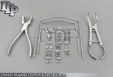 Dental Rubber Dam Kit Set 18 Pieces Dental Filling Instruments Set