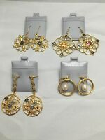 Wholesale Lot, 925 Sterling Silver Gold & Plated Gemstone Italian Design Earring