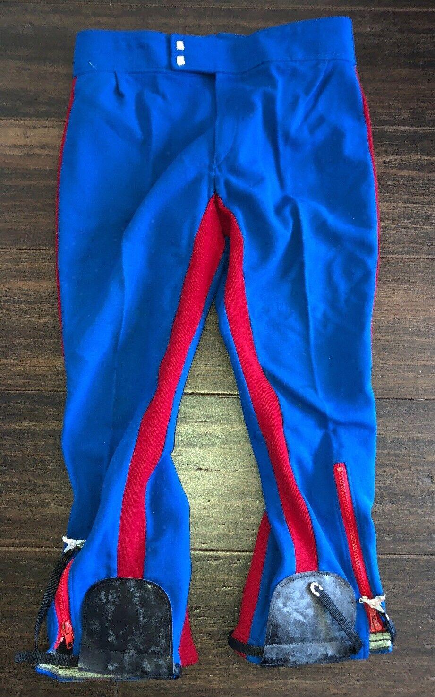 brown Sportmoden Mens Red bluee Snow Ski Pants 32 Inch Waist X 23 Inch Inseam