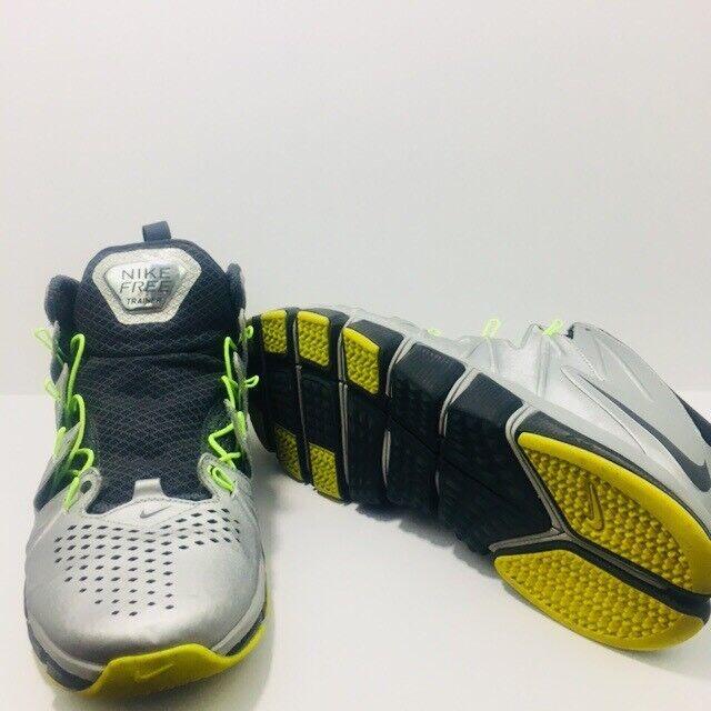 Nike libera trainer Uomo scarpette d'argento di nero 654246 007 sz 10 170