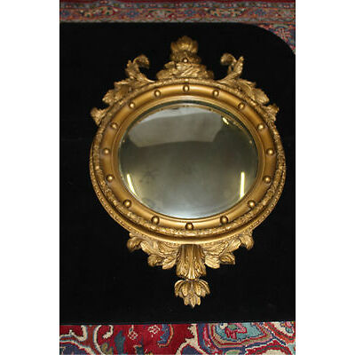 19th Gilded heavily carved Butler's Mirror