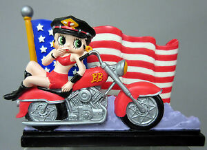 New american rider betty boop biker business card holder us flag usa image is loading new american rider betty boop biker business card colourmoves