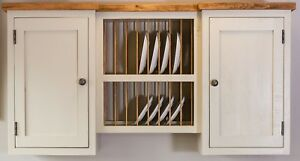Image Is Loading Handmade Plate Rack Kitchen Wall Cupboard Unit Freestanding