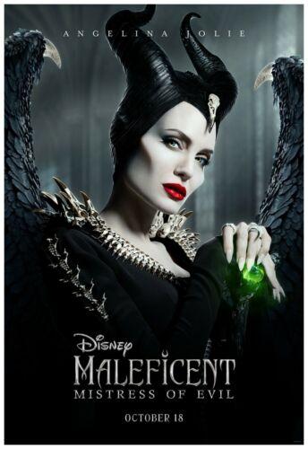 "Maleficent Mistress Of Evil Movie Poster 24x36/"" 2019 Frame Ready"