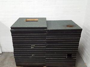 39x Green Heavy Duty Data Centre/Server Room Raised Floor Tiles Panels 610x610mm